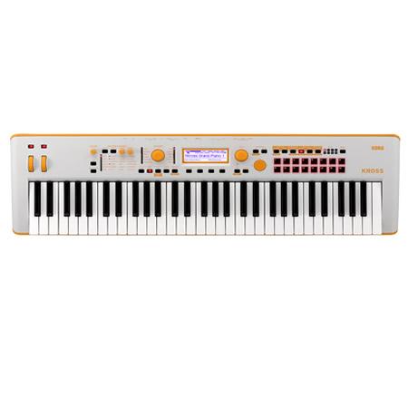 KORG Kross 61 synthesizers workstationk white